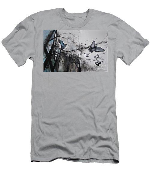 Men's T-Shirt (Slim Fit) featuring the photograph Birds by Maja Sokolowska