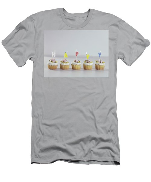 Birthday Cupcakes Men's T-Shirt (Athletic Fit)