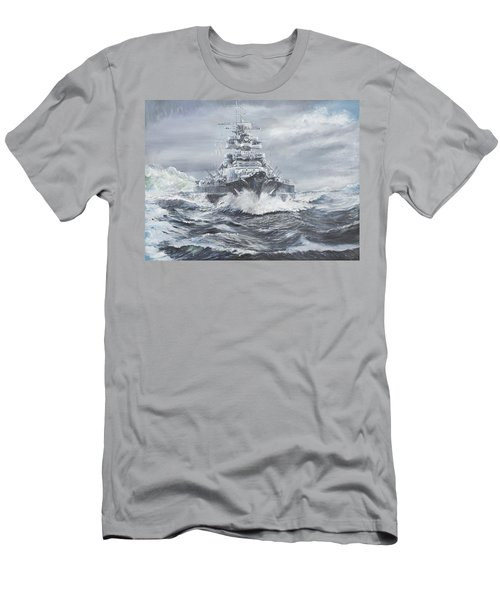 Bismarck Off Greenland Coast  Men's T-Shirt (Slim Fit) by Vincent Alexander Booth