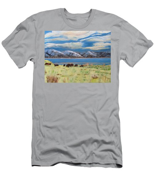 Bison On Antelope Island Men's T-Shirt (Athletic Fit)