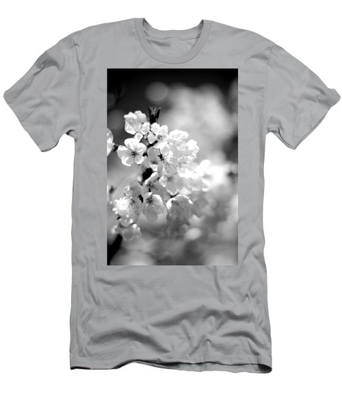 Black And White Blossoms Men's T-Shirt (Athletic Fit)