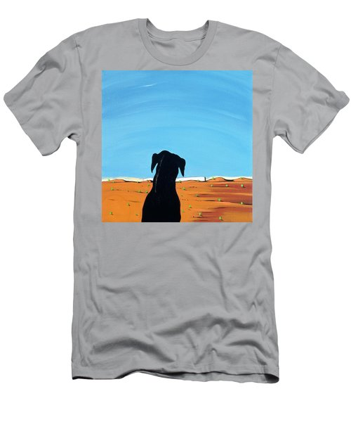 Black Dog In Chestertown, 1998 Men's T-Shirt (Athletic Fit)