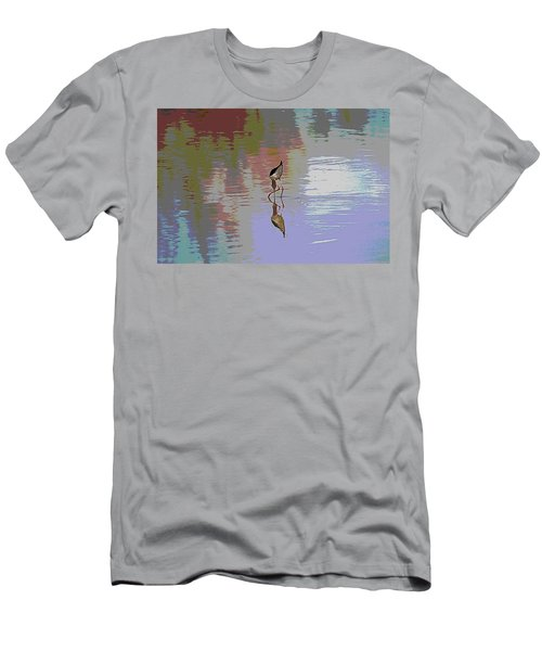 Men's T-Shirt (Slim Fit) featuring the photograph Black Neck Stilt Out In The Pond by Tom Janca