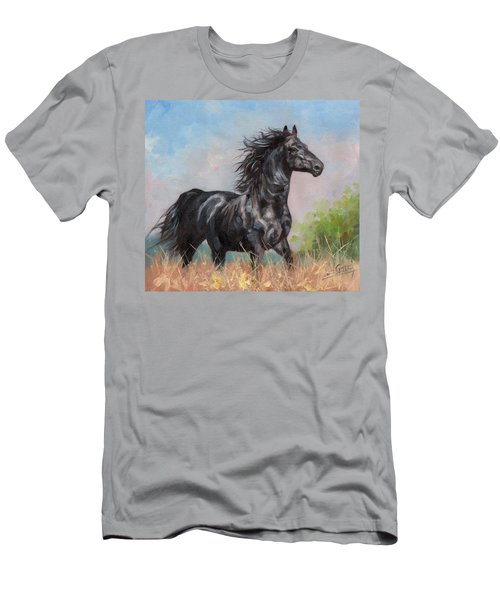 Black Stallion Men's T-Shirt (Slim Fit)