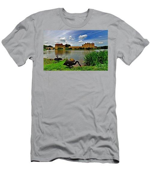 Black Swans At Leeds Castle II Men's T-Shirt (Athletic Fit)