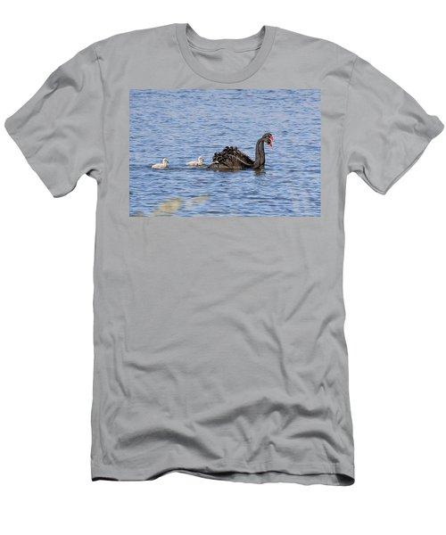 Black Swans Men's T-Shirt (Athletic Fit)