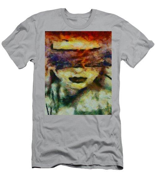 Men's T-Shirt (Slim Fit) featuring the digital art Blinded By Sorrow by Joe Misrasi
