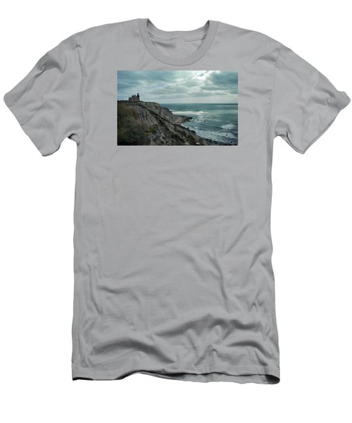Block Island South East Lighthouse Men's T-Shirt (Slim Fit) by Skip Willits