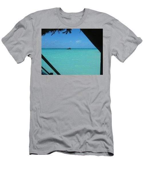 Men's T-Shirt (Slim Fit) featuring the photograph Blue And Green by Photographic Arts And Design Studio