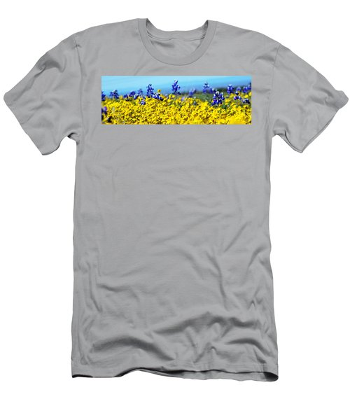 Blue And Yellow Wildflowers Men's T-Shirt (Athletic Fit)
