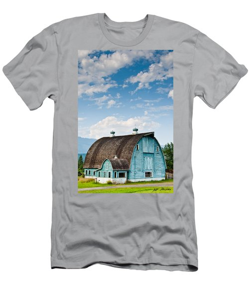 Blue Barn In The Stillaguamish Valley Men's T-Shirt (Athletic Fit)