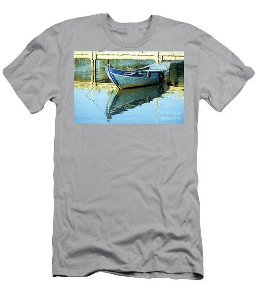 Blue Boat 01 Men's T-Shirt (Athletic Fit)