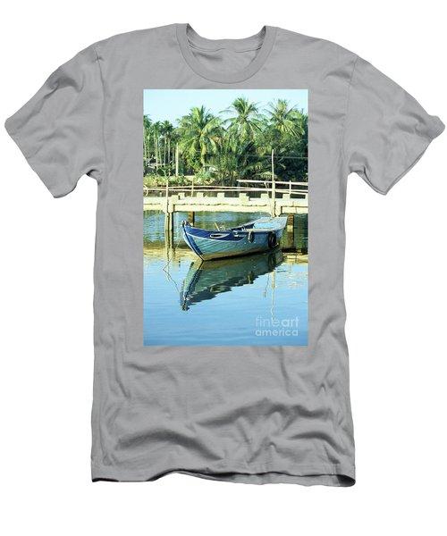Blue Boat 02 Men's T-Shirt (Athletic Fit)