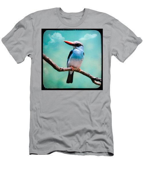 Blue Breasted Kingfisher Men's T-Shirt (Athletic Fit)