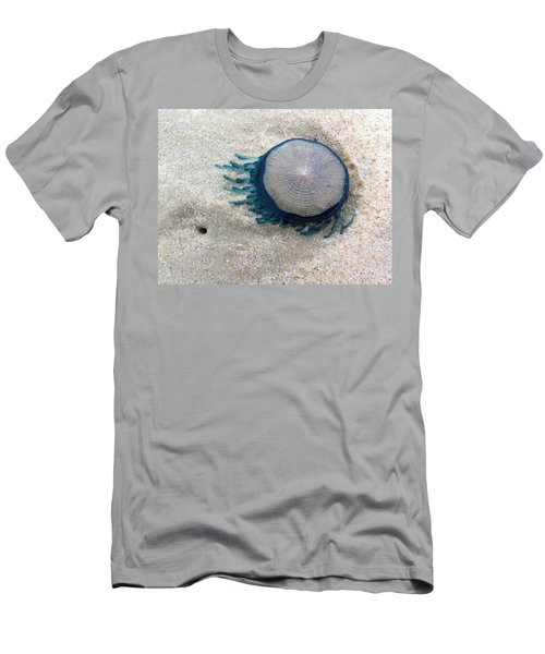 Blue Button #2 Men's T-Shirt (Athletic Fit)