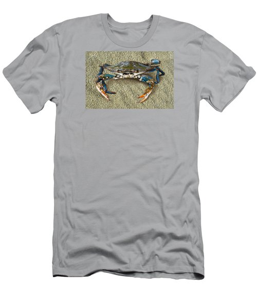 Blue Crab Confrontation Men's T-Shirt (Athletic Fit)