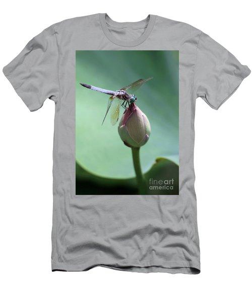 Blue Dragonflies Love Lotus Buds Men's T-Shirt (Athletic Fit)