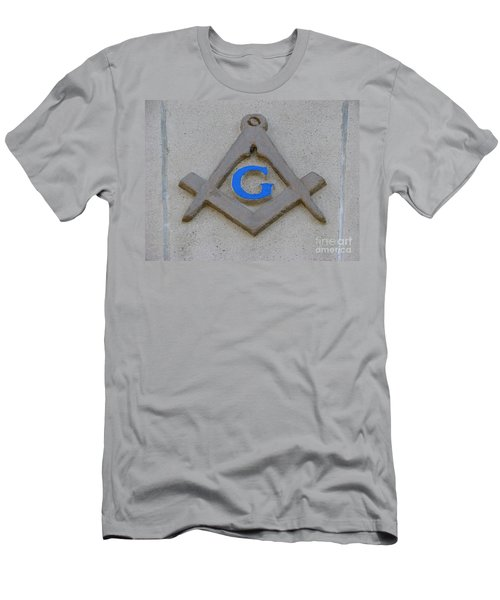Blue G Men's T-Shirt (Slim Fit) by Michael Krek