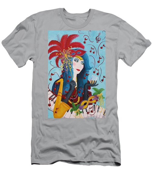 Blue Haired Lady Men's T-Shirt (Athletic Fit)