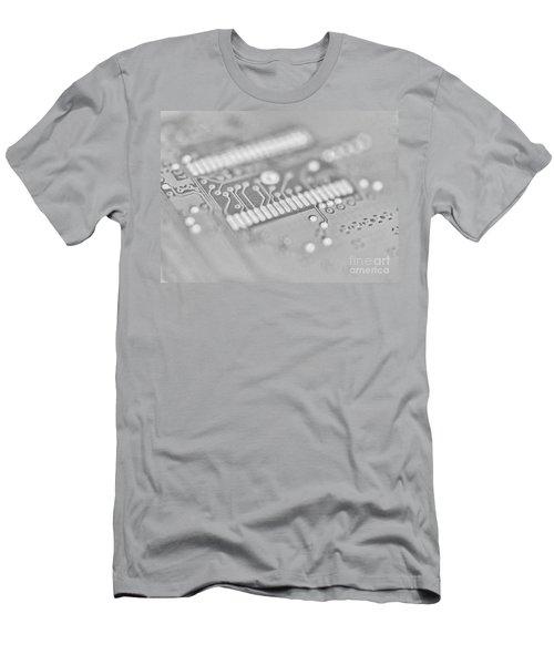 Blue Hard Drive High Key Men's T-Shirt (Athletic Fit)