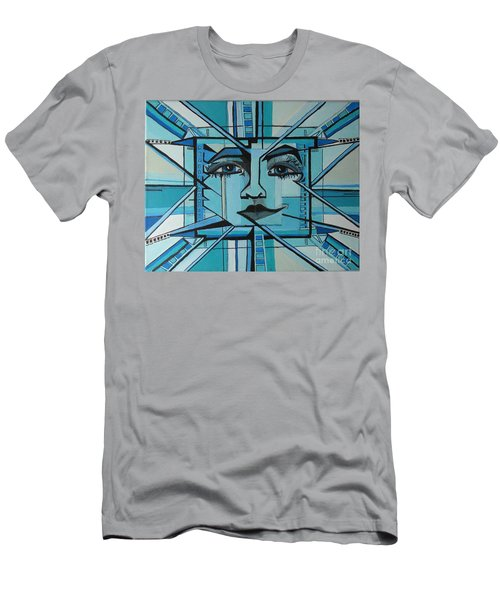 Blue Ray - Sun Men's T-Shirt (Athletic Fit)