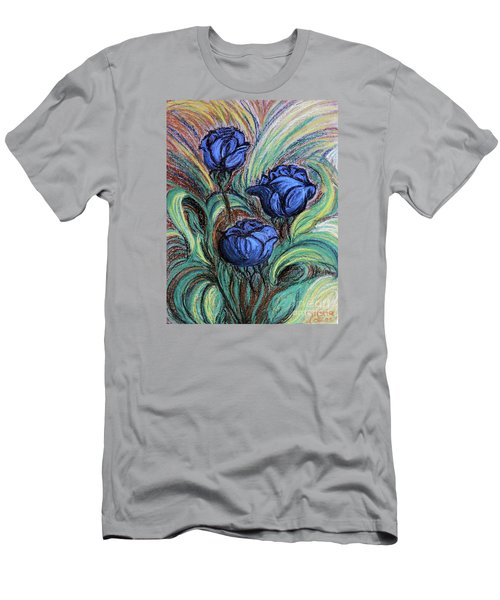 Blue Roses Men's T-Shirt (Slim Fit) by Jasna Dragun