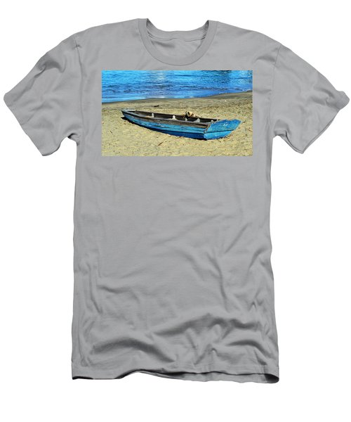 Blue Rowboat Men's T-Shirt (Slim Fit) by Holly Blunkall