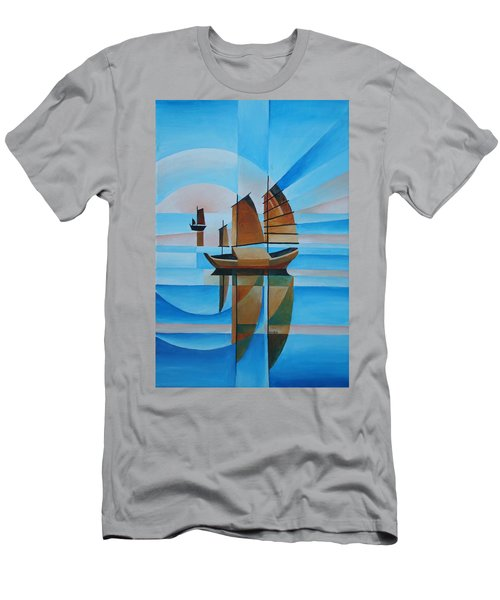 Blue Skies And Cerulean Seas Men's T-Shirt (Athletic Fit)