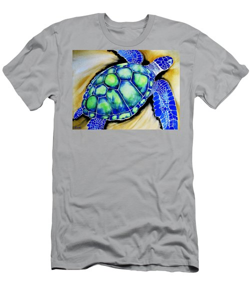 Blue Turtle Men's T-Shirt (Athletic Fit)