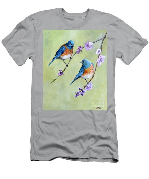 Bluebirds And Blossoms Men's T-Shirt (Athletic Fit)