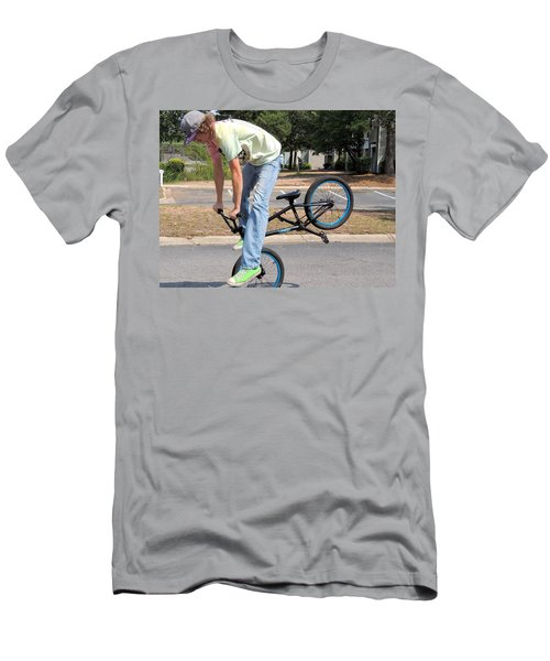 Bmx Rider Men's T-Shirt (Slim Fit) by Aaron Martens