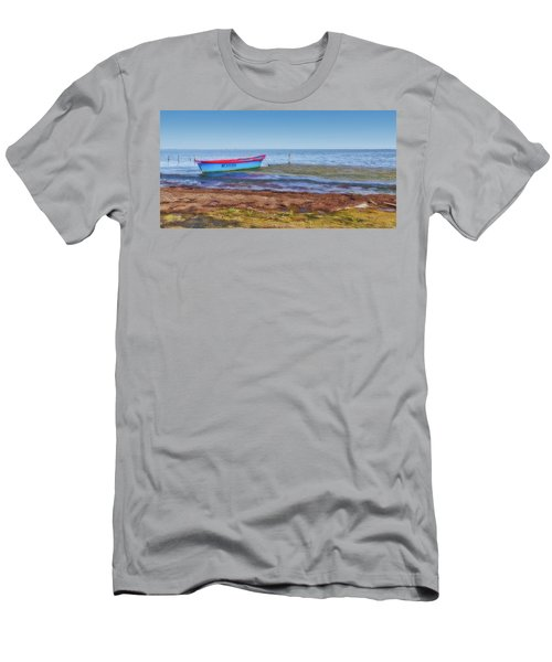 Boat At The Pond Men's T-Shirt (Athletic Fit)