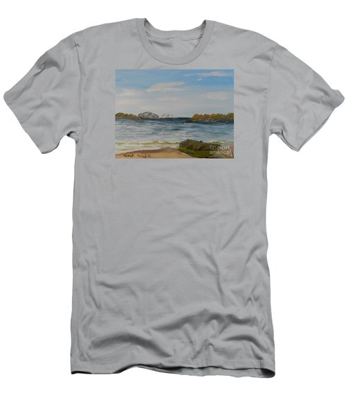 Boat On The Beach Men's T-Shirt (Athletic Fit)
