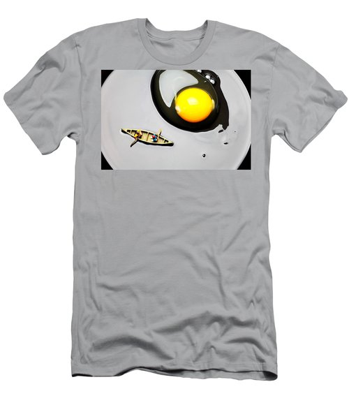 Boating Around Egg Little People On Food Men's T-Shirt (Athletic Fit)