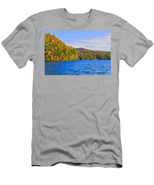 Boating In Autumn Men's T-Shirt (Athletic Fit)