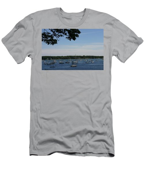 Men's T-Shirt (Slim Fit) featuring the photograph Boats At Rest by Denyse Duhaime