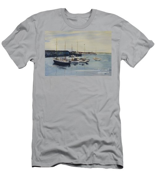 Boats In A Harbour Men's T-Shirt (Athletic Fit)
