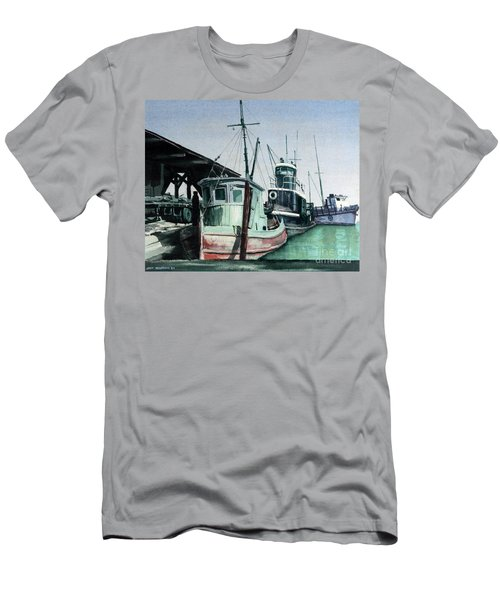 Men's T-Shirt (Slim Fit) featuring the painting Boats by Joey Agbayani