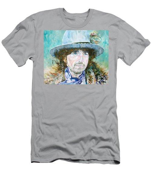 Bob Dylan Oil Portrait Men's T-Shirt (Athletic Fit)
