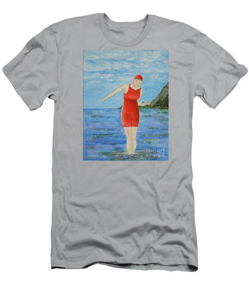 Bold Red Men's T-Shirt (Slim Fit) by Tamyra Crossley
