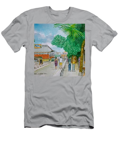 Bonaire Street Men's T-Shirt (Slim Fit) by Frank Hunter