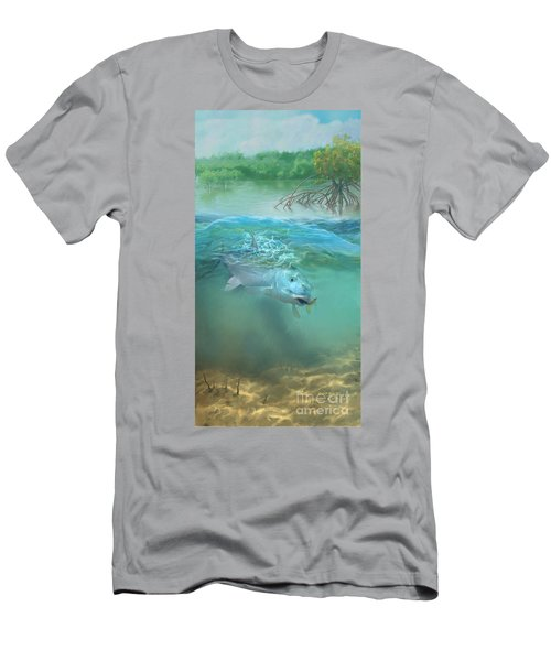 Men's T-Shirt (Slim Fit) featuring the painting Bone Fish by Rob Corsetti