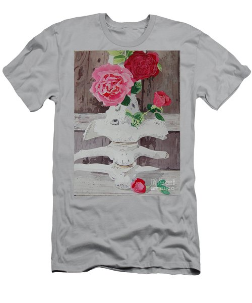 Bones And Roses Men's T-Shirt (Athletic Fit)