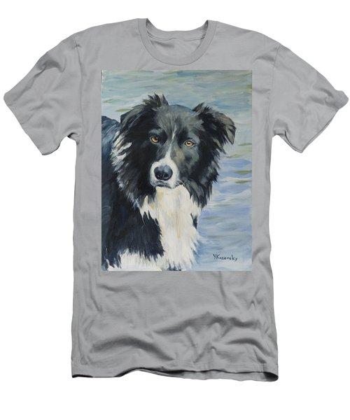 Border Collie Portrait Men's T-Shirt (Athletic Fit)