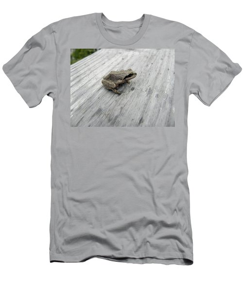 Men's T-Shirt (Slim Fit) featuring the photograph Botanical Gardens Tree Frog by Cheryl Hoyle