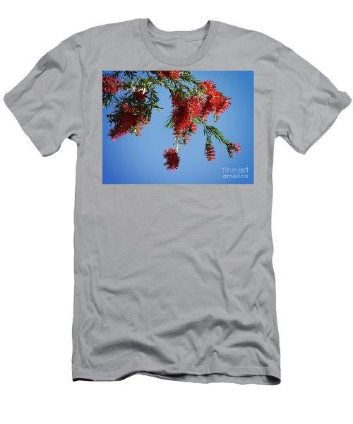 Bottle Brushing The Sky Men's T-Shirt (Athletic Fit)