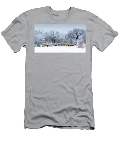 Bow Bridge In Central Park Nyc Men's T-Shirt (Athletic Fit)