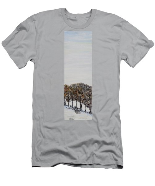 Men's T-Shirt (Slim Fit) featuring the painting Branch Broken by Marilyn  McNish