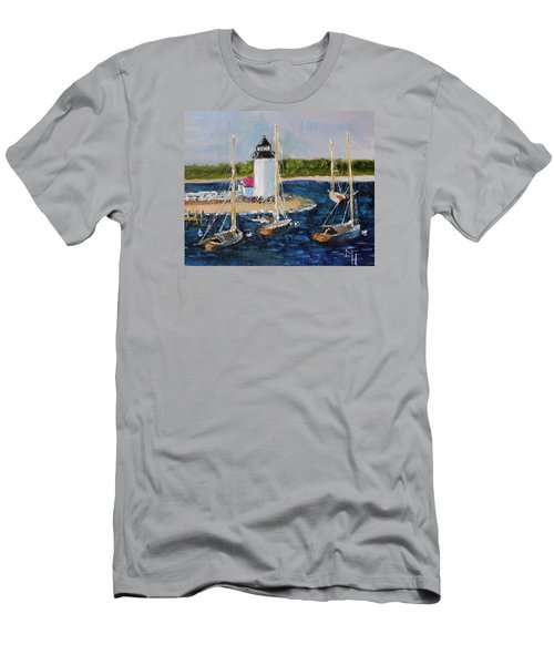 Brant Lighthouse Nantucket Men's T-Shirt (Slim Fit) by Michael Helfen
