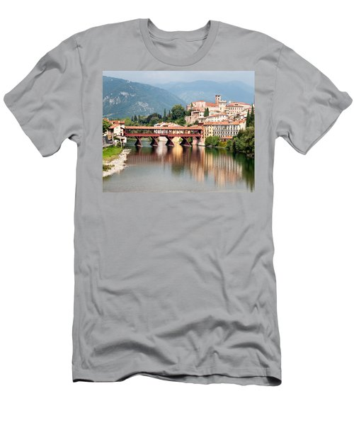 Bridge At Bassano Del Grappa Men's T-Shirt (Slim Fit) by William Beuther